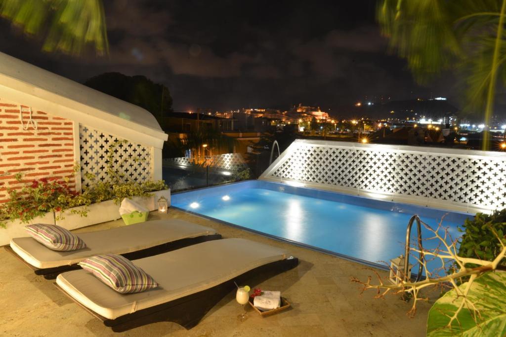 The swimming pool at or near Casa Santa Ana Hotel Boutique