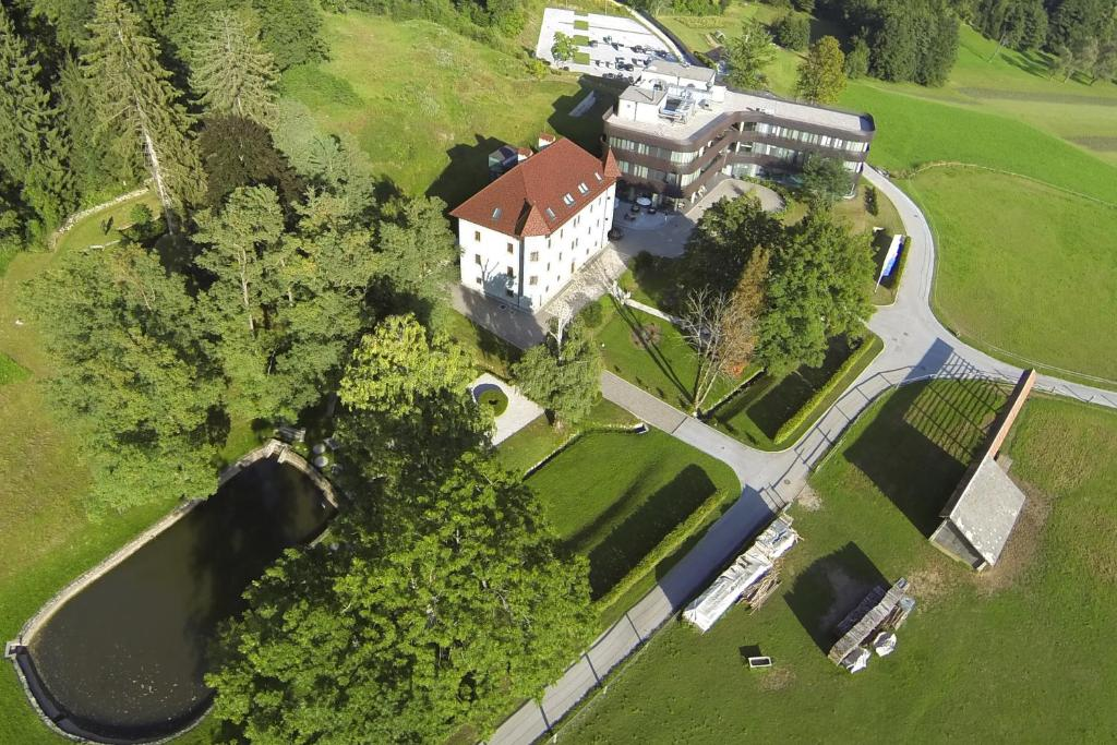 A bird's-eye view of Lambergh Chateau & Hotel