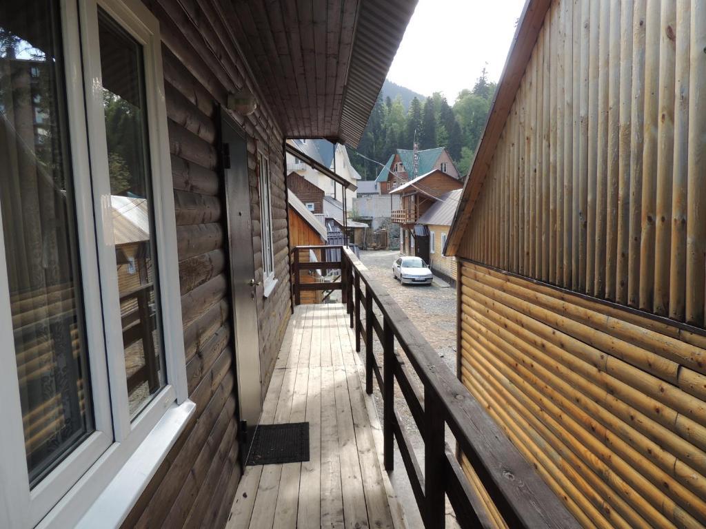 A balcony or terrace at Lesnaya Skazka Hotel