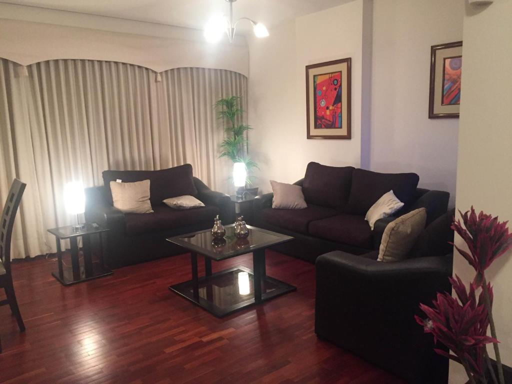 Zona de estar de Apartment Cochabamba