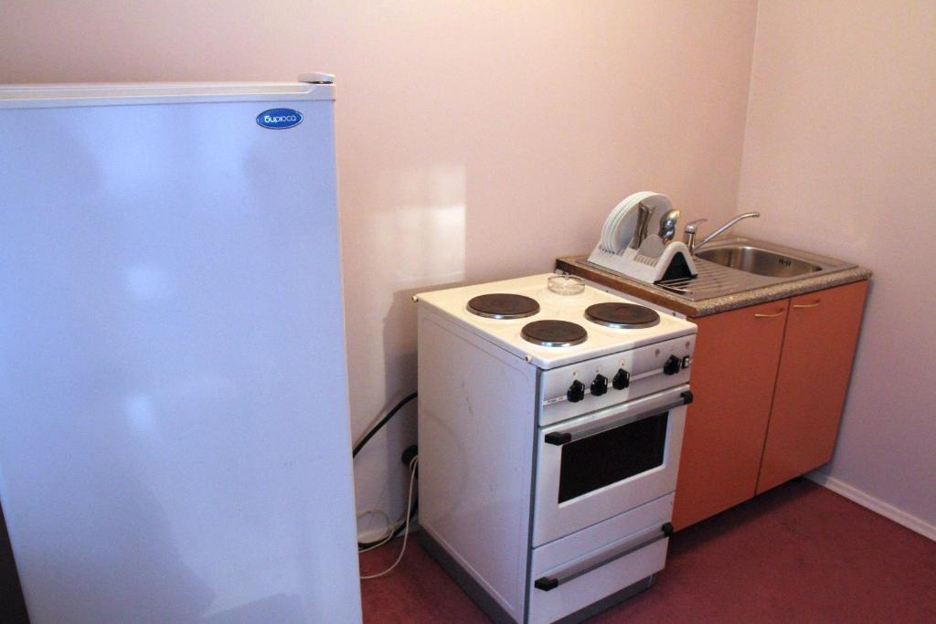 A kitchen or kitchenette at Zvezdny Park-Hotel