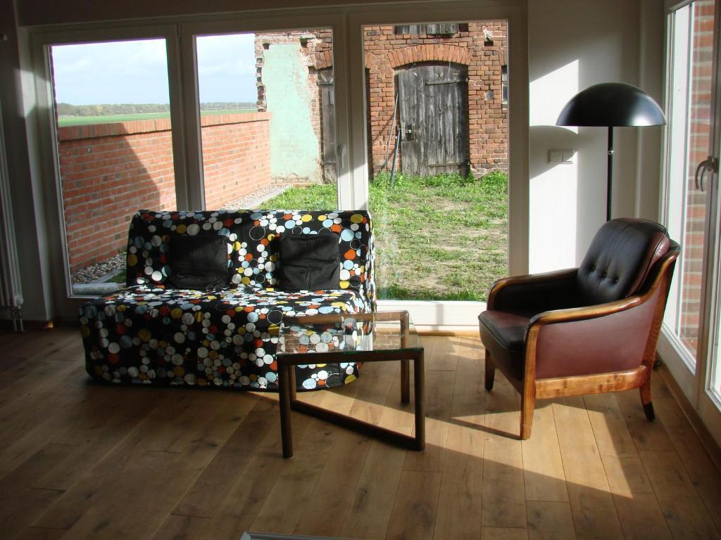 Ein Sitzbereich in der Unterkunft Ferienwohnungen Spiesmacher