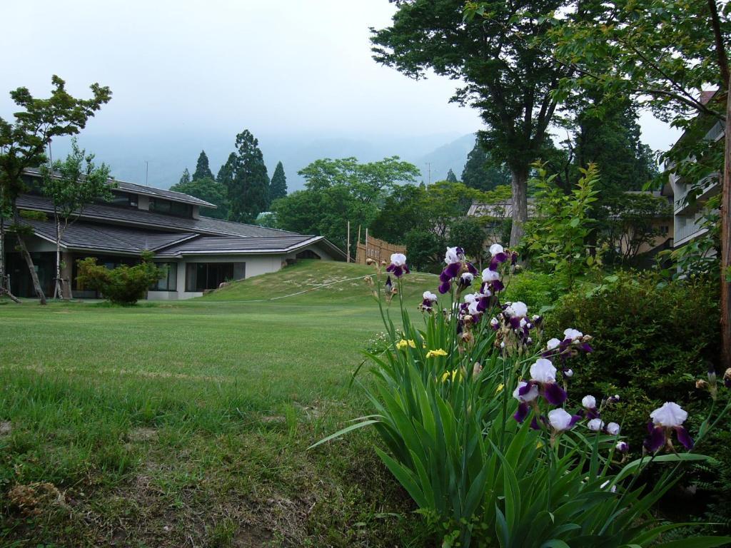 赤倉ホテルにある庭