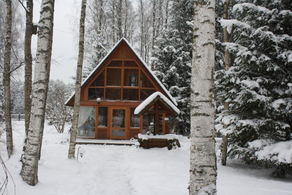 Holiday Home Bērzlejas om vinteren