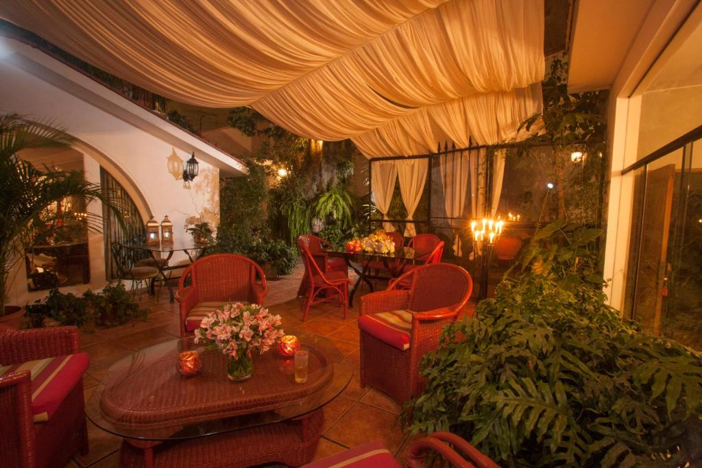 Villa Molinaにあるレストランまたは飲食店