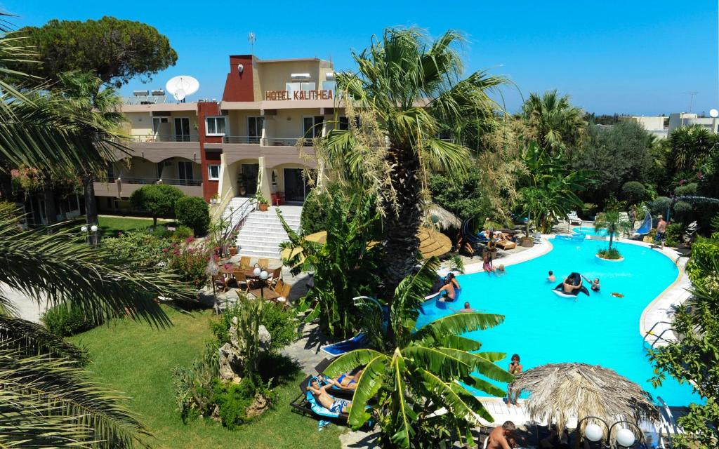 A view of the pool at Hotel Kalithea or nearby