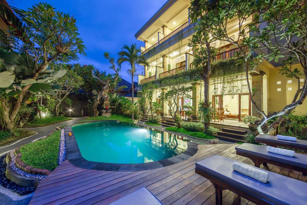 The swimming pool at or near Padma Ubud Retreat