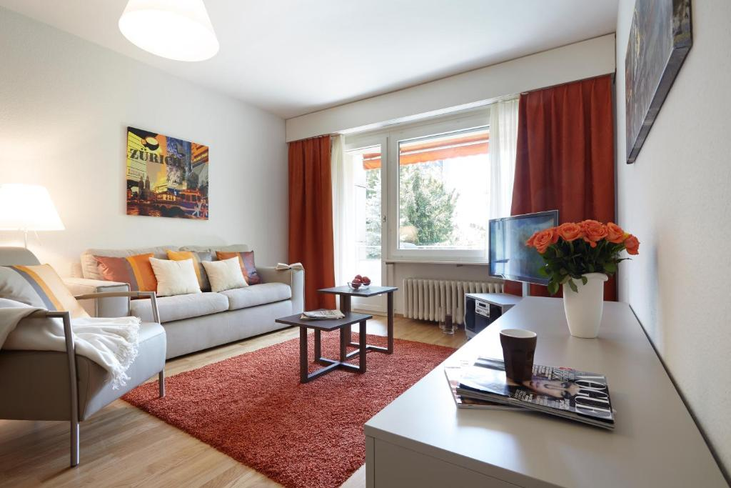 A seating area at City Stay Furnished Apartments - Nordstrasse