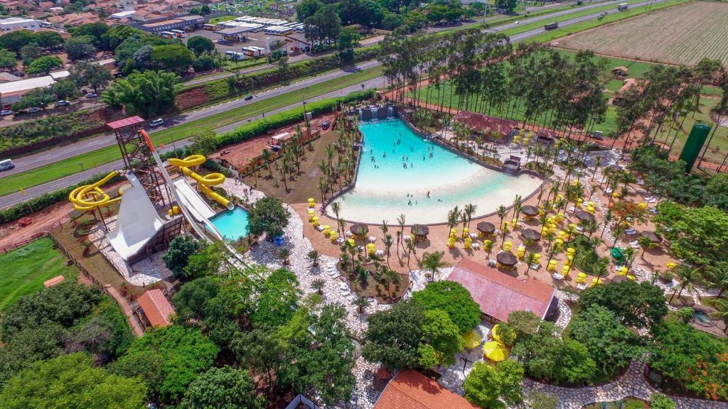 Uma vista aérea de Barretos Country Hotel