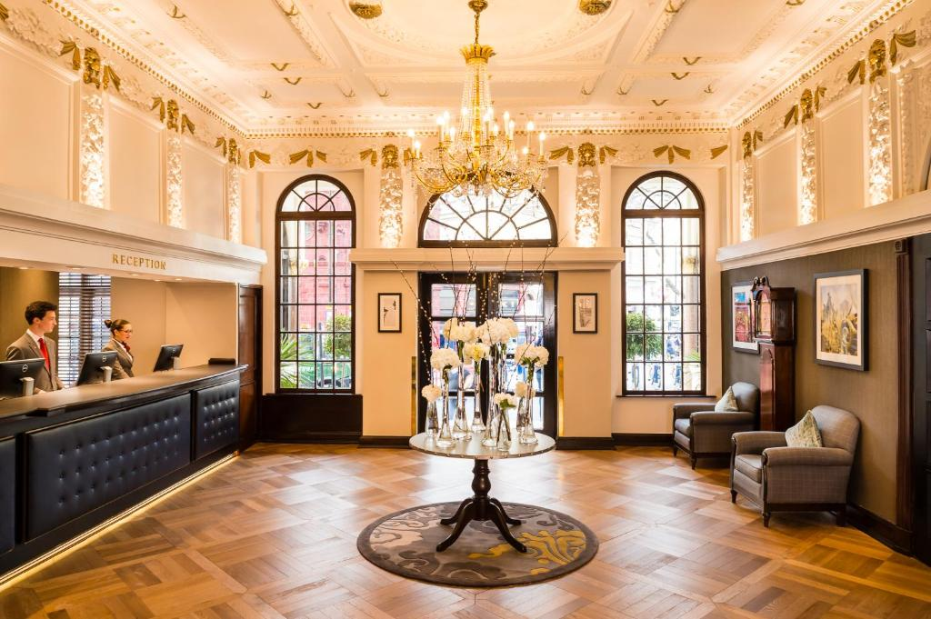 The lobby or reception area at The Bailey's Hotel London