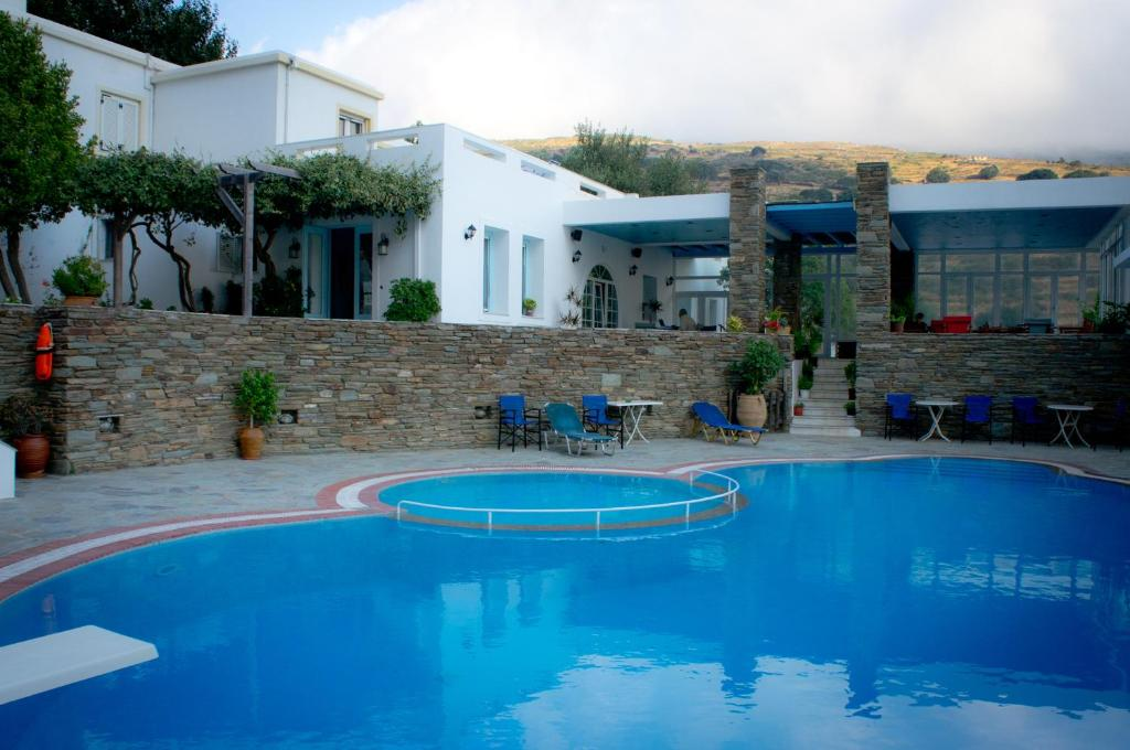 The swimming pool at or near Aiolos Hotel Andros
