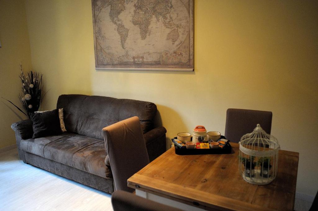 A seating area at Aquarius Inn