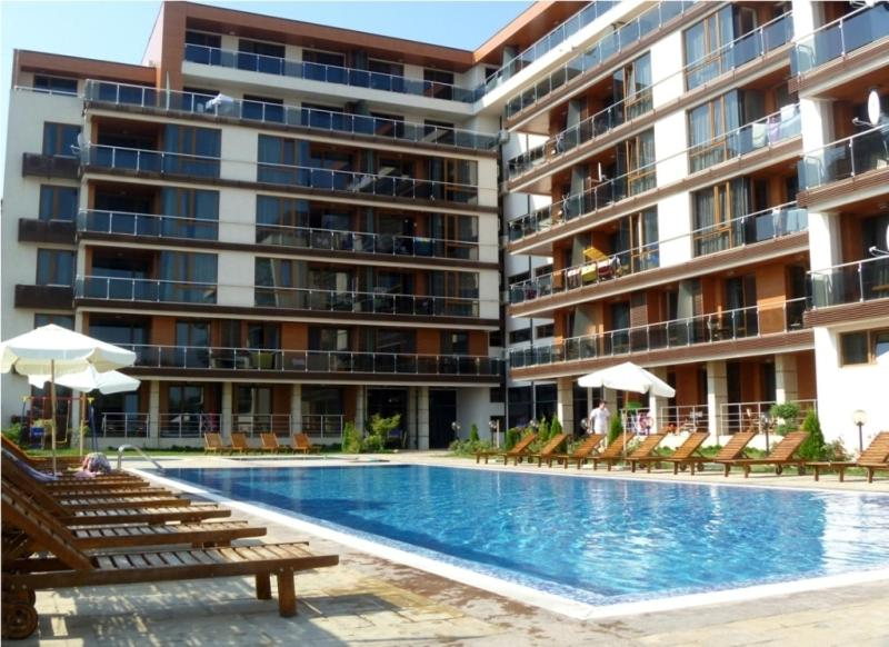 The swimming pool at or near Pomorie Bay Apartments