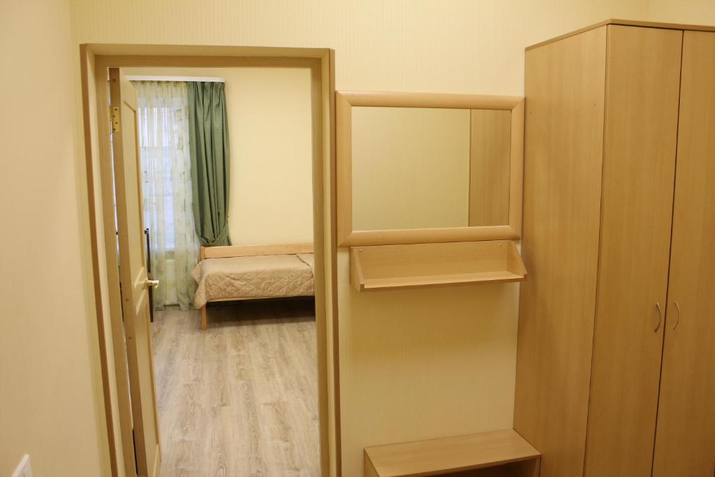 A bunk bed or bunk beds in a room at Zvenigorodskaya