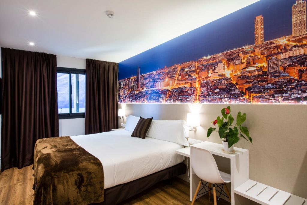 Cama ou camas em um quarto em Hotel BestPrice Gracia