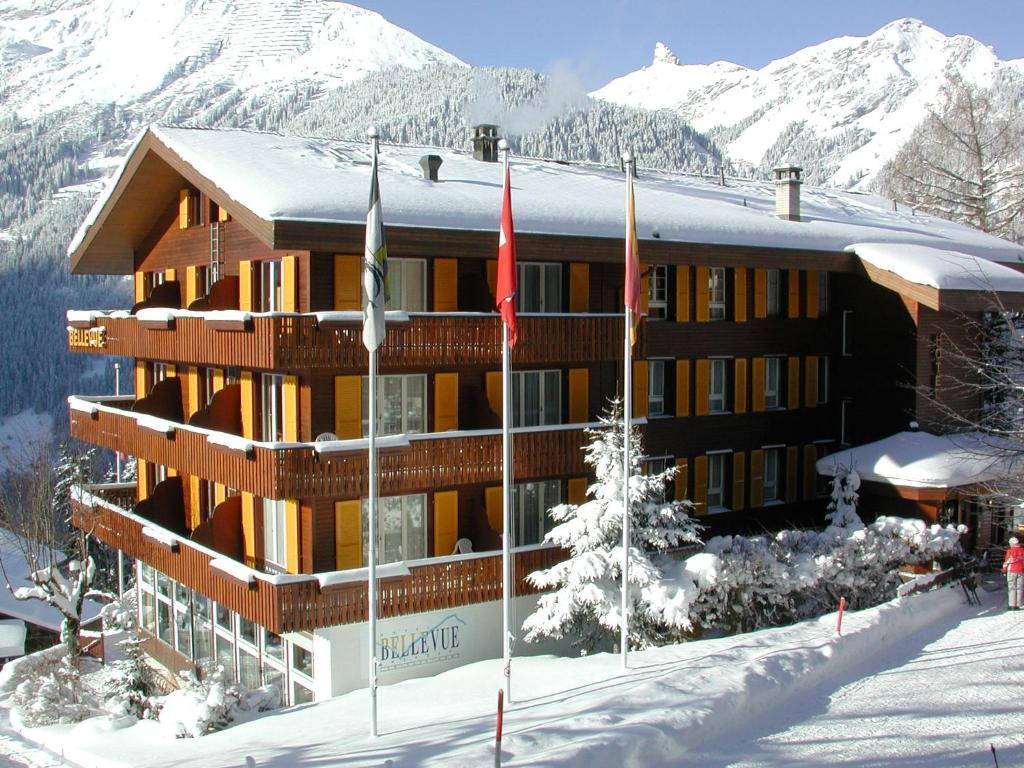 Hotel Bellevue-Wengen during the winter