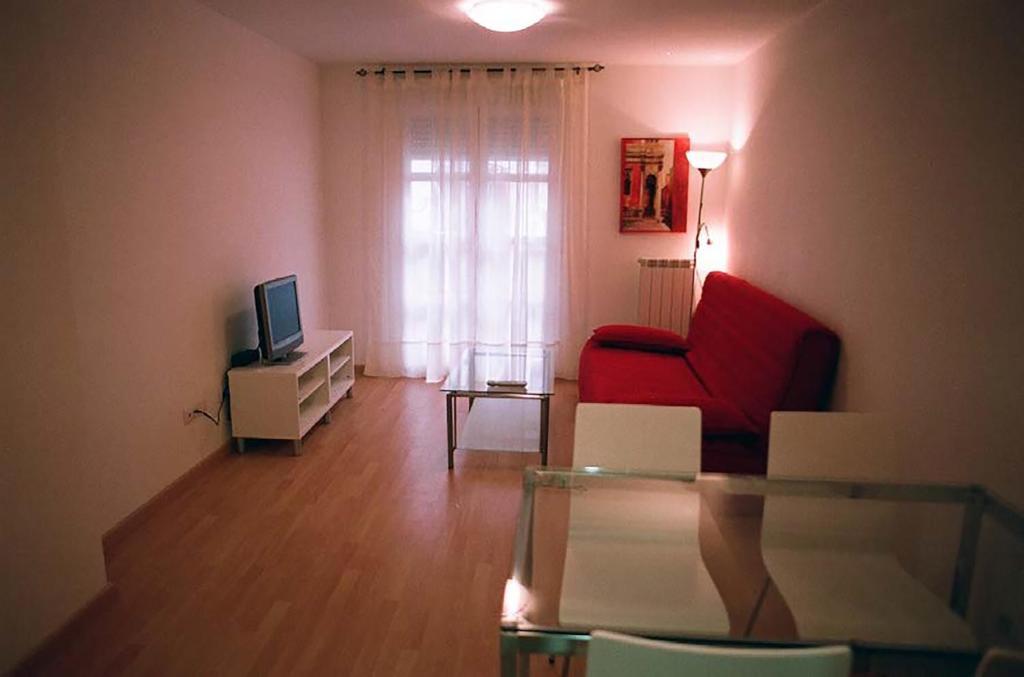 Zona de estar de Apartamentos Auhabitat Zaragoza, edificio de apartamentos turísticos con facilidad de parking