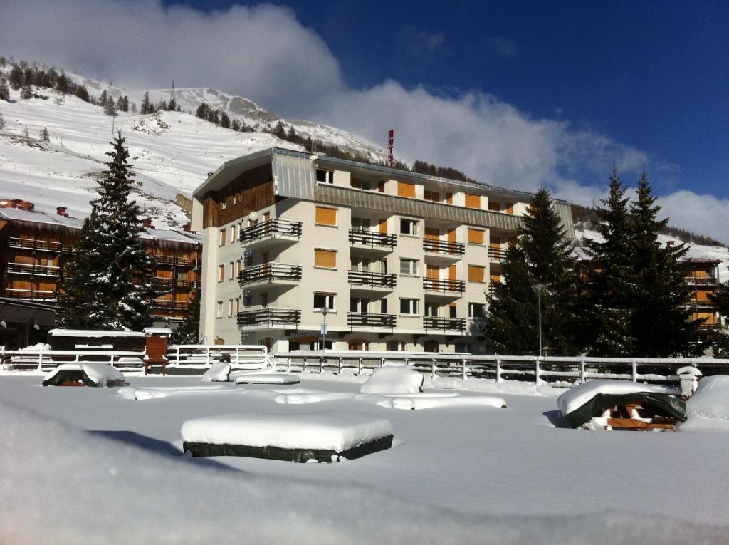Hotel Hermitage durante l'inverno