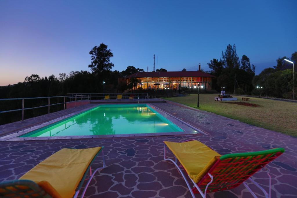 The swimming pool at or near Goha Hotel