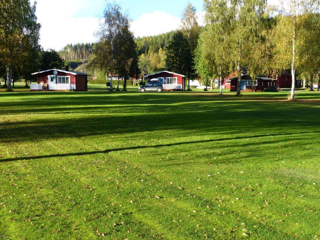 A garden outside Björkebo Camping