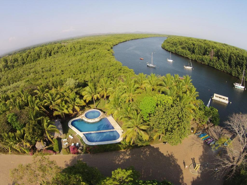 A bird's-eye view of Puerto Barillas
