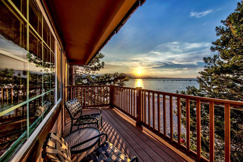 A balcony or terrace at The Tahoe Beach and Ski Club Owners Association