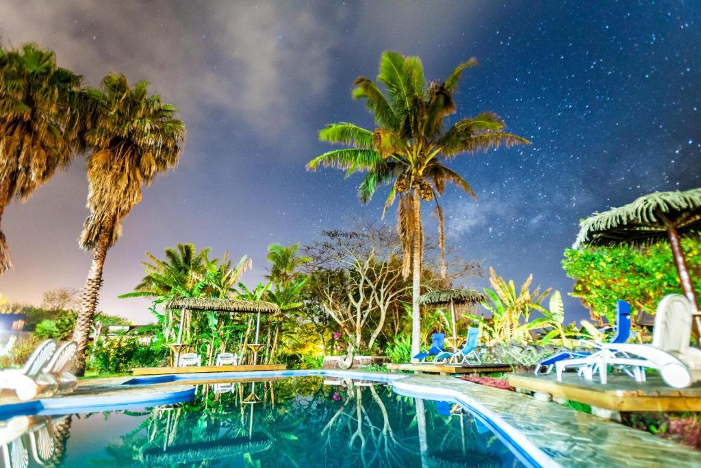 A piscina localizada em O'tai ou nos arredores