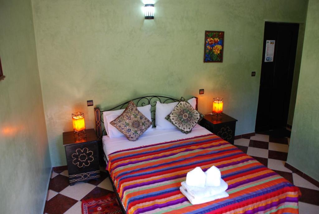 Ein Bett oder Betten in einem Zimmer der Unterkunft Maison d´hôtes Amazir