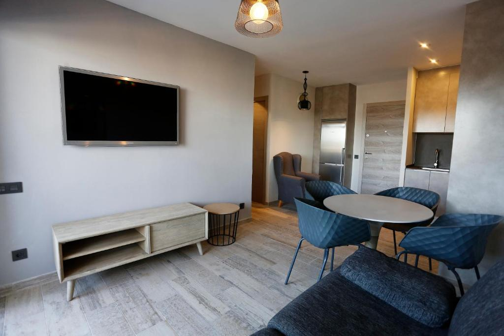 A television and/or entertainment center at Different Style