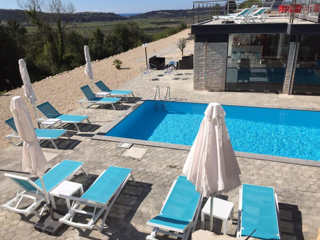 A view of the pool at Colina casa or nearby