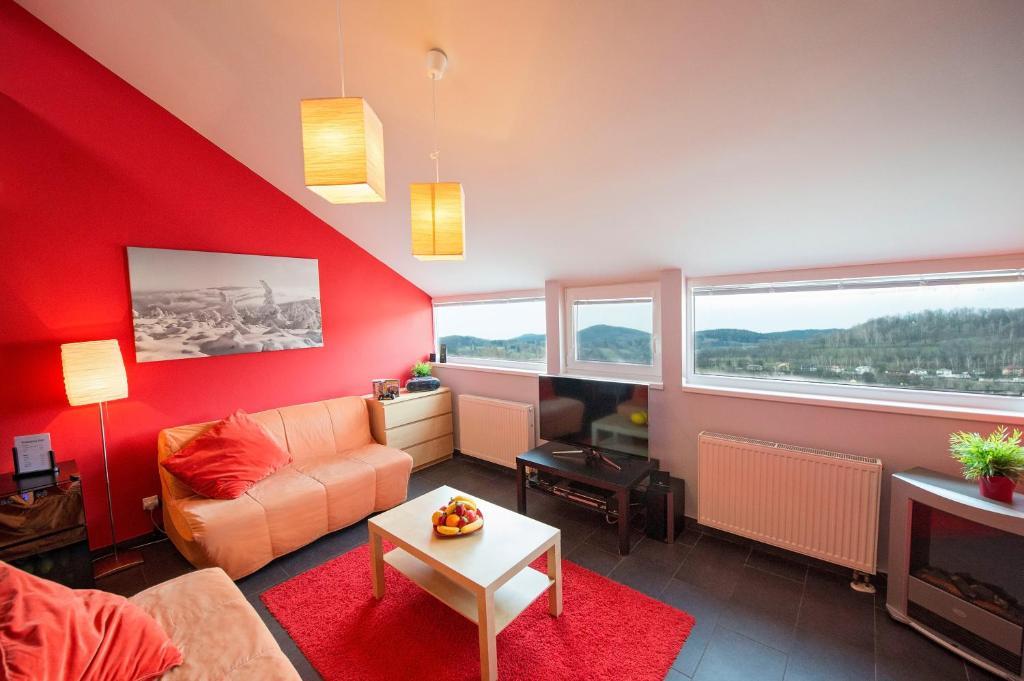 Posezení v ubytování Apartma Panorama Jeseník