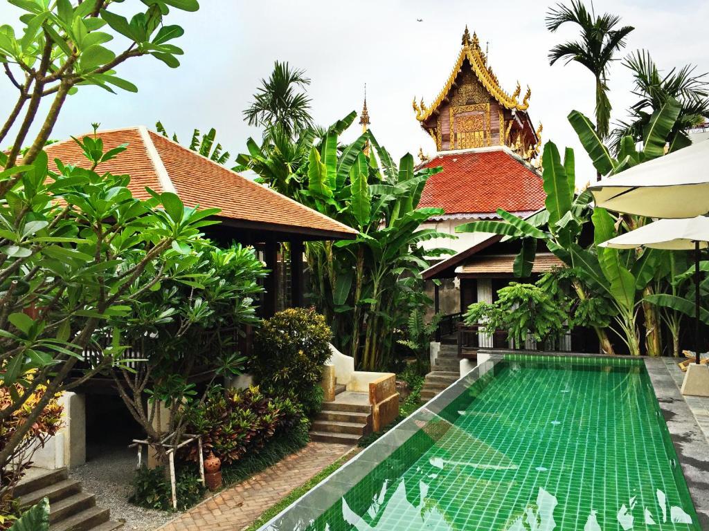 The swimming pool at or near Baan Saen Fang Chiang Mai