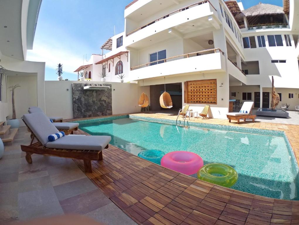 The swimming pool at or near Shavanna Hotel Boutique