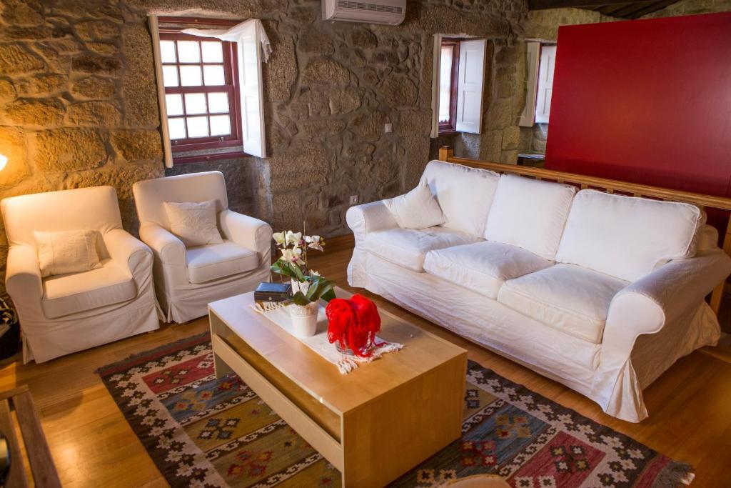 Uma área de estar em Casa da Ferreirinha