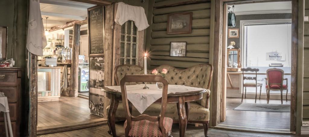 Spiseplass på bed-and-breakfastet