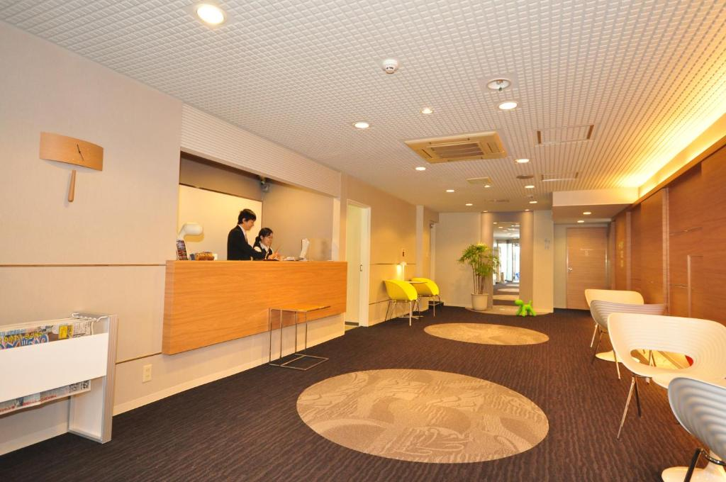 The lobby or reception area at Hotel Green Well