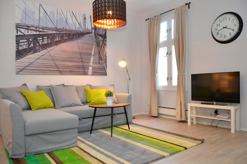 A seating area at Forenom Serviced Apartments Oslo S
