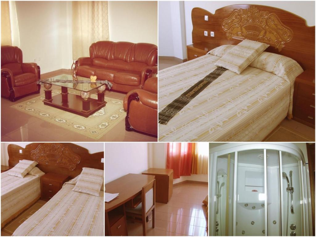 A bed or beds in a room at Residencial Cosmos