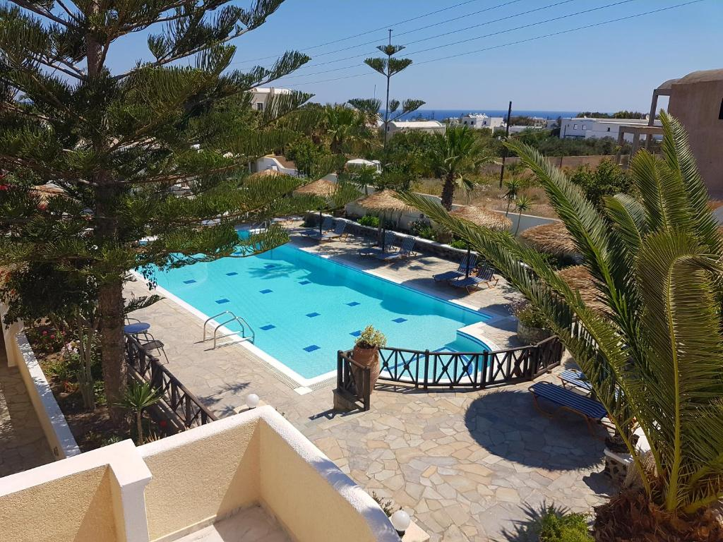 A view of the pool at Ira Apartments & Studios Kamari or nearby