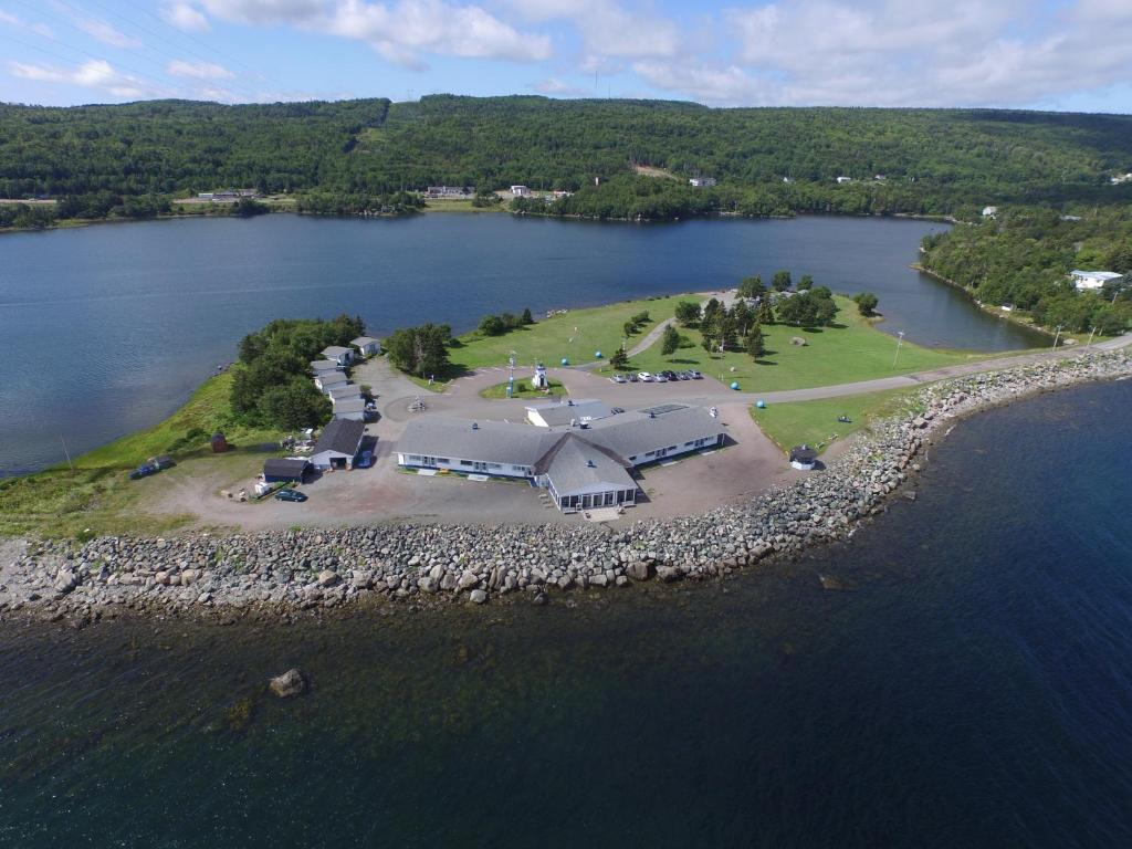 A bird's-eye view of The Cove Motel