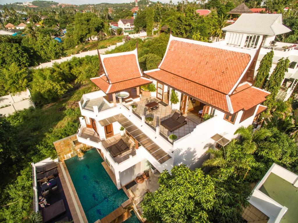 A bird's-eye view of Samui Luxury Pool Villa Melitta