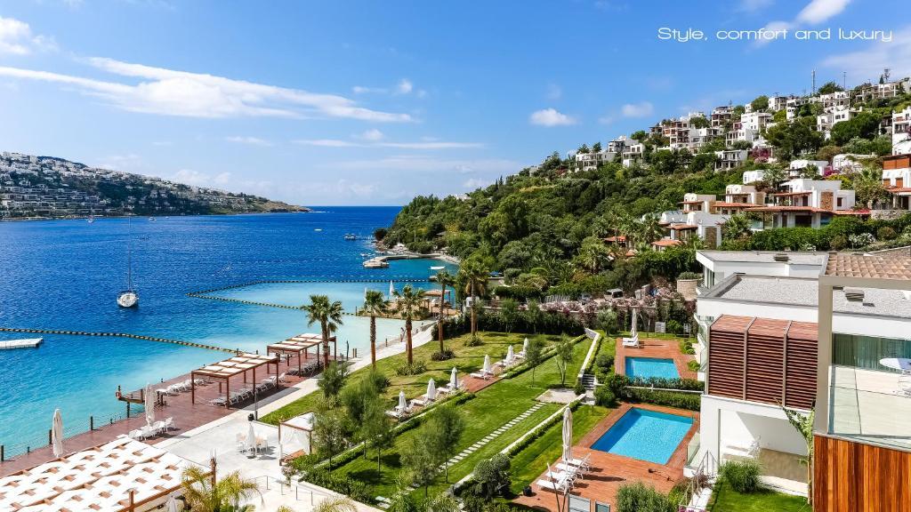 Blick auf Mivara Luxury Resort & Spa / Bodrum aus der Vogelperspektive