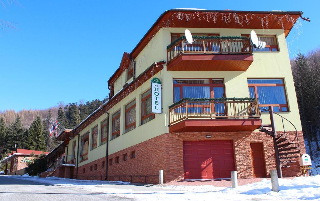 Hotel Šomka during the winter