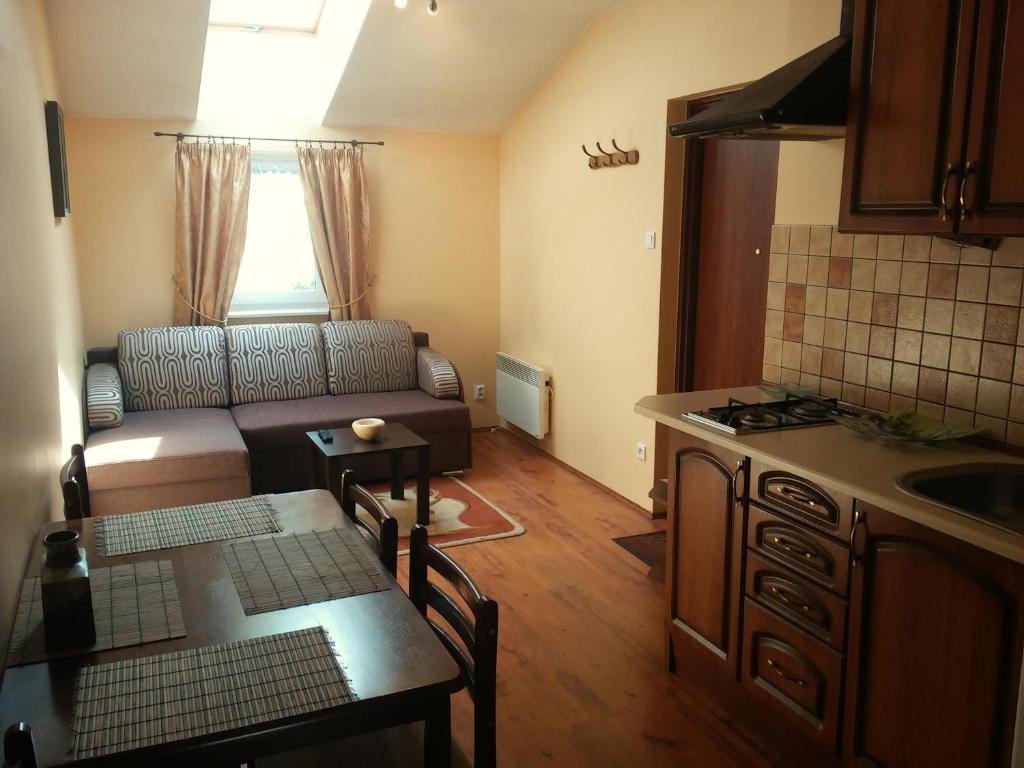 Kuchnia lub aneks kuchenny w obiekcie Apartamenty Na Wyspie
