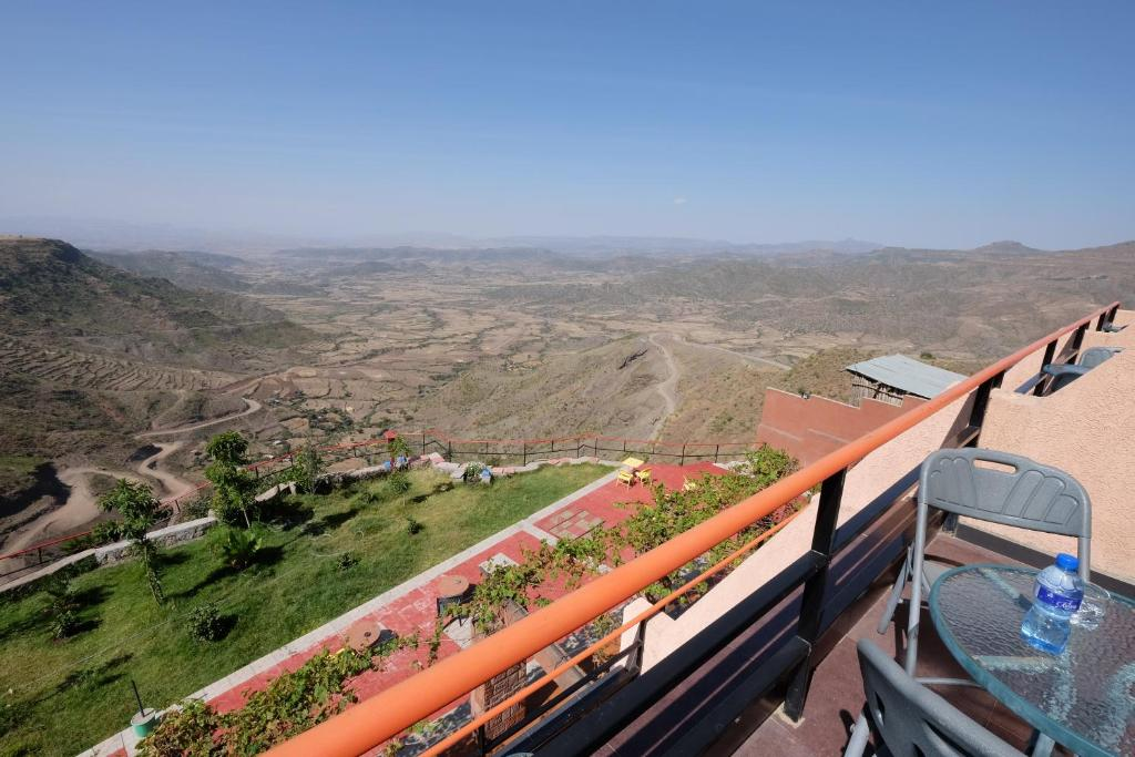 A balcony or terrace at Panoramic View Hotel