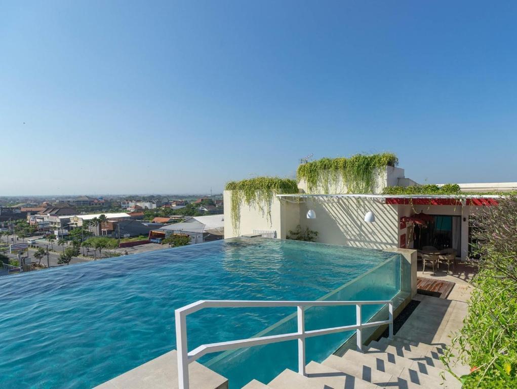 The swimming pool at or near Atanaya Kuta Bali