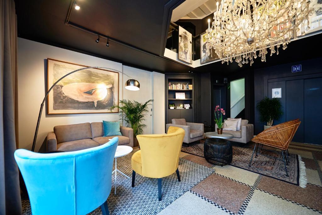 The lounge or bar area at Leopold Hotel Ostend
