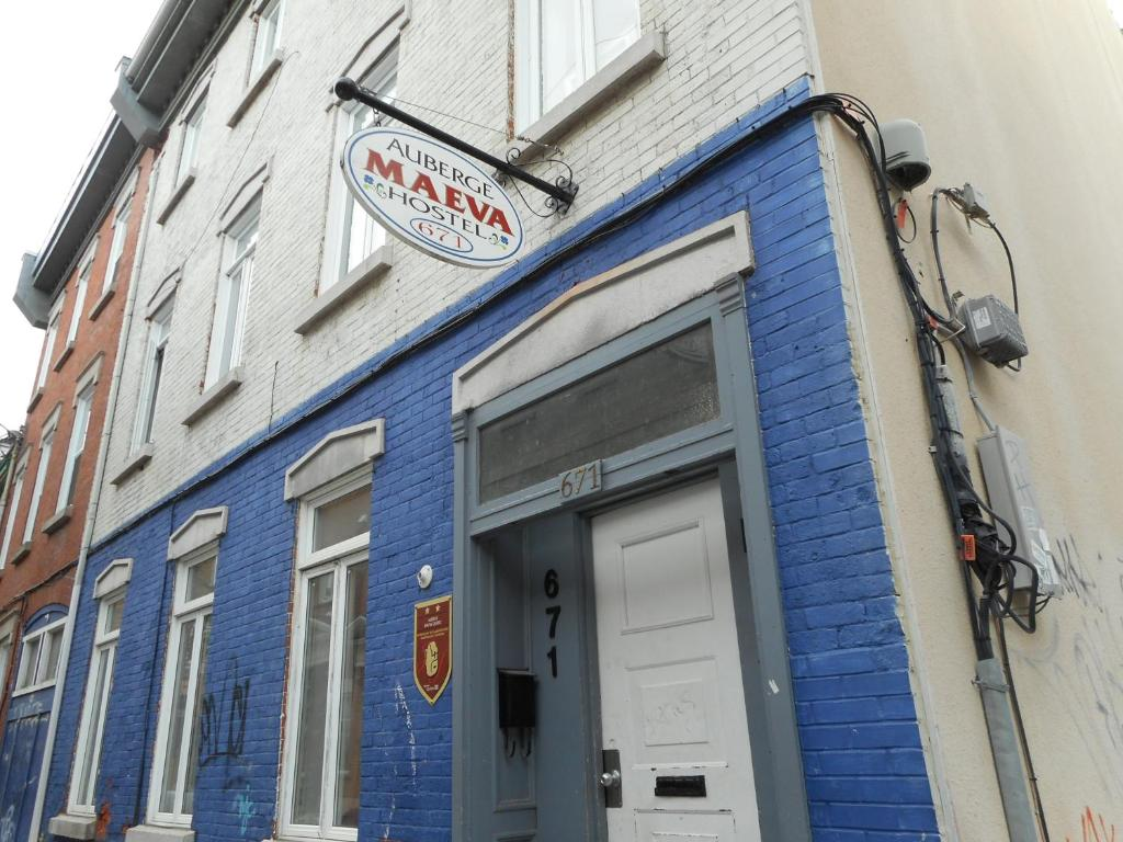 The facade or entrance of Auberge Maeva