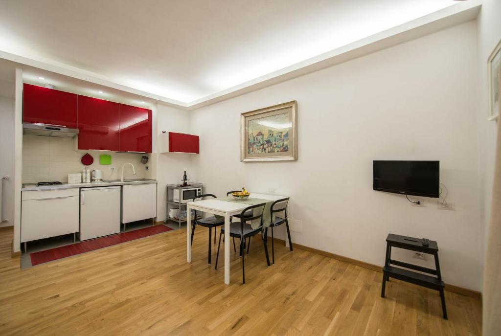 A cozinha ou cozinha compacta de Saint Peter Apartments