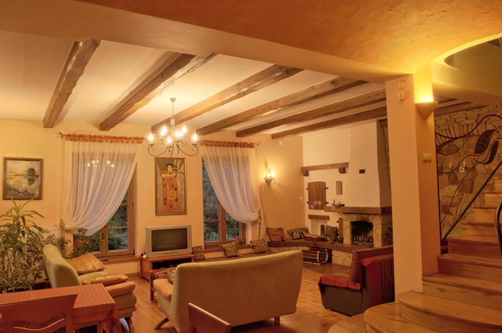 Лаундж или бар в Pensjonacik Ogrody